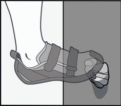 Small Edge: Focus on the most positive section.  Keep ankle at about 90°.  Wrap toes around hold.