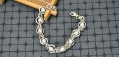 Free Instructions on Making Byzantine Chainmail Bracelet with Pearl Beads and Silver Jump Rings