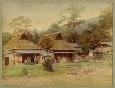 Old Photos of Japanese Village in The 19th Century