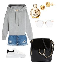 """Casual"" by pitaa29 on Polyvore featuring Nobody Denim, Alexander McQueen, Burberry, Chloé, Linda Farrow, Versace and Lord & Taylor"