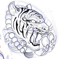 ไม่มีคำอธิบายรูปภาพ Tiger Tattoo Sleeve, Lion Tattoo, Sleeve Tattoos, Japanese Tiger Tattoo, Japanese Dragon Tattoos, Tattoo Sketch Art, Tattoo Drawings, Mosaic Tattoo, Chinese Tattoo Designs