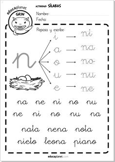 Ficha repaso silabas directas N 29 fichas como tarea individual de refuerzo de silabas directas #silabas #lectoescritura #infantil #repaso Un complemento ideal a LEO CON GRIN.