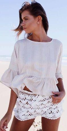 #summer #mishkahboutique #outfits | Stripes + Crochet