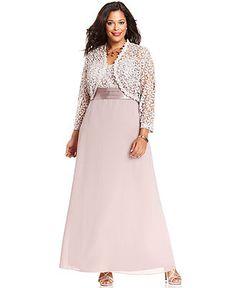r richards dress and jacket, sleeveless glitter shift - macy's