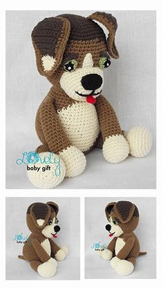 Amigurumi dog, puppy crochet pattern
