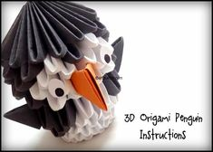 3D Origami Penguin