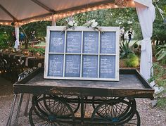 Chalk board seating chart | photo by Amber Vickery Photography | 100 Layer Cake
