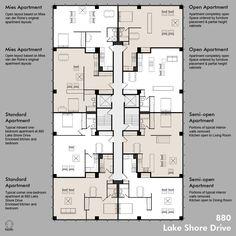Mies Van de Rohe flexible apartments