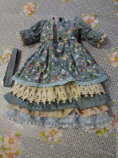 Одежда для кукол ручной работы. Платье для куклы Paola Reina 32-34 см В стиле Прованс-3!. Елена (EZagretdinova). Ярмарка Мастеров.