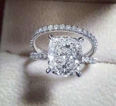 2 ct Cushion Cut Engagement Ring with Matching Wedding Band