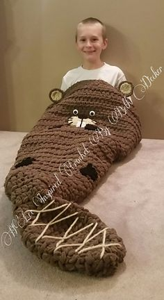 Diy crochet cocoon. Meet Buckly the Beaver! He is so soft and warm. Buckly is the best companion to cuddle up on the couch with and watch your favorite movie.  https://www.etsy.com/shop/HLeeInspiredCrochet