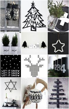 winter - xmas - black & white christmas