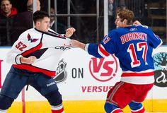 one of the many reasons I love hockey...fights! hahaa