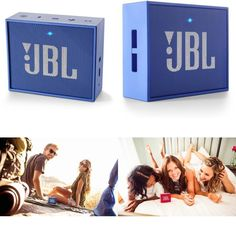 Portable Rechargeable Bluetooth Speaker With Aux-In Compatible Blue