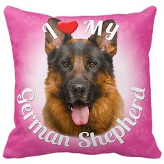 ileesh I Love My German Shepherd Throw Pillow