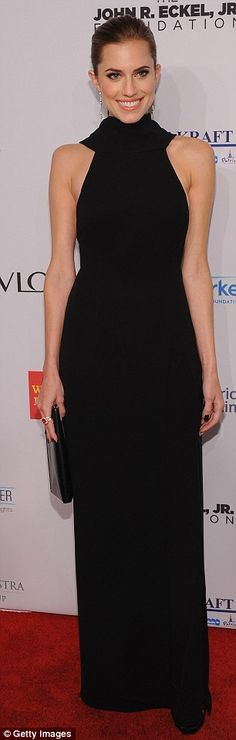 Allison Williams + gown