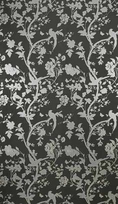 I have this in pale pink in my room at my parent's house - oriental garden wallpaper, Laura Ashley