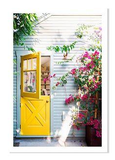 Yellow Dutch Door in L.A.