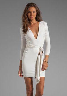 shopstyle.com: BEC Exclusive Jaguar Long Sleeve Dress with Tie