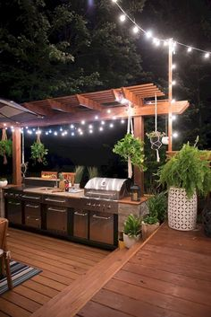 20+ PRETTY OUTDOOR KITCHEN IDEAS THAT'LL SURPRISE YOUR GUESTS Outdoor Kitchen Design, Patio Design, Exterior Design, House Design, Outdoor Kitchens, Design Design, Design Ideas, Backyard Barbeque, Cozy Backyard