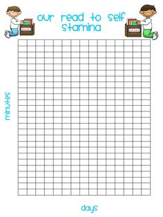 Daily Five Graphs | Read to Self Stamina Graphs Daily 5