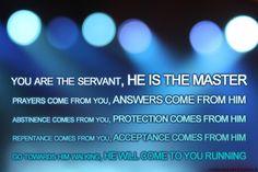 #master #servant relationship