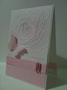 Pink by sandy_beach - Cards and Paper Crafts at Splitcoaststampers- #card with Manhattan flower die