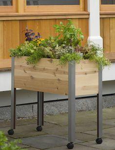Standing garden - wheelchair may fit under it?