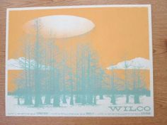 Original silkscreen concert poster for Wilco in Nothampton, Waltham, and Boston Massachusetts  from 2004. 24 x 18 inches. Artwork by Lure Design.