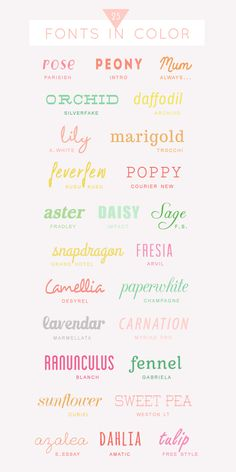 Fonts | Colorful {Spring}