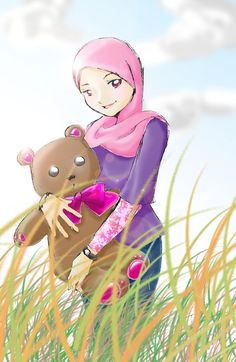 Image For Hijab Cartoon Girl Wallpaper Find This Pin And More On ISLAMIC ANIME HD