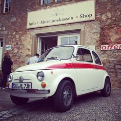 Fiat 500 at Auto Museum Schloss Langenburg #fiat500 #carporn #car #auto #creme21rallye #creme21 #picoftheday #fun #new #autovideoreview