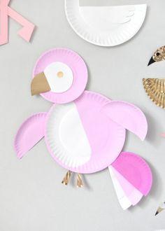 DIY Paper Plate Birds