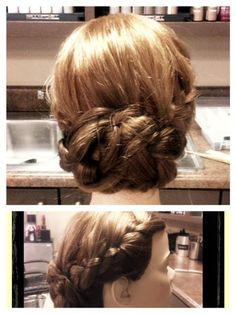 possible wedding hair! love the braid down the side :)