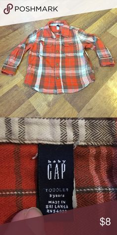 Baby gap Long sleeve button up 3T💋 Like new condition 💕 make your own bundle and Save 💸 GAP Shirts & Tops Button Down Shirts