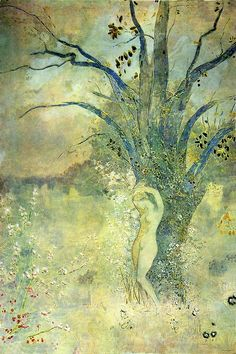 Redon, Odilon (French, 1840-1816) - Le Printemps (The Spring) - s.d.