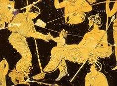 Birth of Dionysus from thigh of Zeus Ancient Greek Art, Ancient Rome, Ancient Greece, Zeus Greek, Mediterranean Art, Classical Antiquity, Satyr, Gay Art, Dionysus
