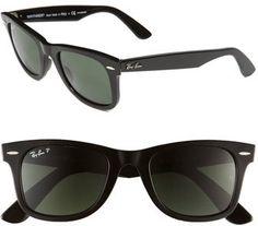 Women's Ray-Ban 'Classic Wayfarer' 50Mm Polarized Sunglasses - Black Polarized