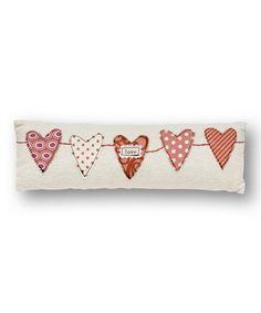 Love this 'Love' Heart Garland Pillow by Collins on #zulily! #zulilyfinds