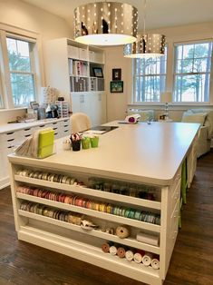 Craft Room Organization and VIDEO tour — Positively Jane Craft Room Organization and VIDEO tour — Positively Jane Sewing Room Design, Craft Room Design, Craft Room Decor, Craft Room Storage, Sewing Rooms, Home Decor, Craft Space, Paper Storage, Sewing Room Decor