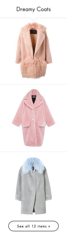 """Dreamy Coats"" by xristianad ❤ liked on Polyvore featuring coats, outerwear, jackets, coats & jackets, shearling coat, oversized coat, teddy bear coat, vivetta, pink oversized coat и faux fur coats"