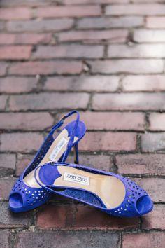 Purple suede Jimmy Choo shoes