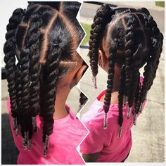 Hair Styles For School peinados naturales para niños naturales Black Kids Hairstyles, Natural Hairstyles For Kids, Back To School Hairstyles, Kids Braided Hairstyles, Natural Hair Styles Kids, Lil Girl Hairstyles Braids, College Hairstyles, Little Girl Twist Hairstyles Black, Little Girl Ponytails
