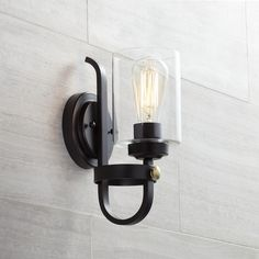 "Eagleton 12"" High Oil-Rubbed Bronze Wall Sconce"