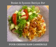 A quick and easy casserole that can be made in a large batch, making multiple casseroles at once, and freeze the ones you are not using on the day. Meal prep for the days when you need some backup. Meals For Four, Ham Casserole, Spoons, Baked Potato, Meal Prep, Frozen, Cheese, Ethnic Recipes, Food