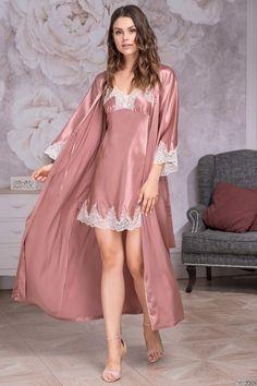 Women Lingerie Pajamas Beneath Underwear Comfortable Thongs Shorts One – watermelontal Satin Nightie, Satin Sleepwear, Satin Lingerie, Pretty Lingerie, Sleepwear Women, Beautiful Lingerie, Women Lingerie, Silk Nightgown, Vintage Lingerie