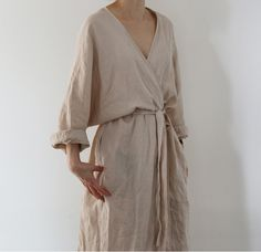 Chic Style - long linen dress More