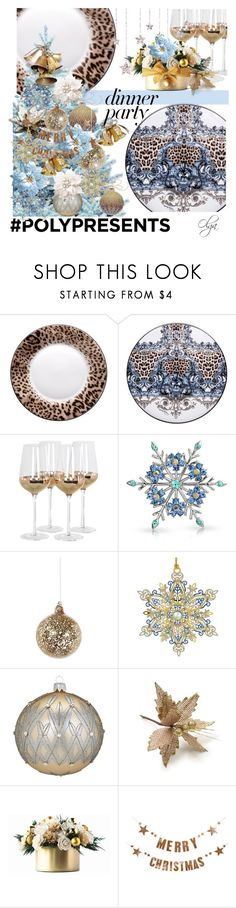 """#PolyPresents: Dinner Party"" by olga1402 on Polyvore featuring interior, interiors, interior design, home, home decor, interior decorating, Roberto Cavalli, Posh Totty Designs, Bling Jewelry and Shishi"