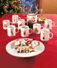 Set an attention-grabbing table for the holidays with this whimsical and witty Reindeer Tabletop Collection. The pieces feature Santa's reindeer in cute po
