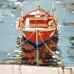 Josef Kote (ALBANIAN: 1964)   Red Attraction   40x40   Original Acrylic on Canvas